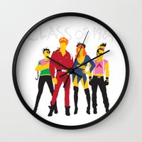 1984 Wall Clocks featuring Class of 1984 by Andy Rohr