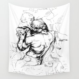 Sculpture from piazza Navona Roma Wall Tapestry