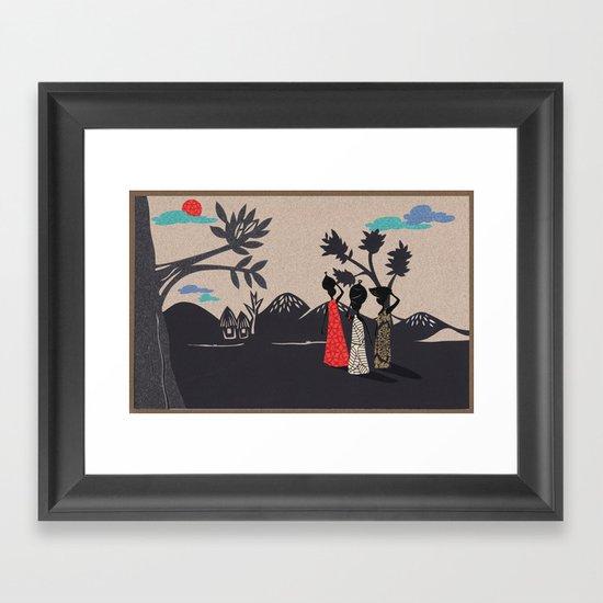 Africa life Framed Art Print