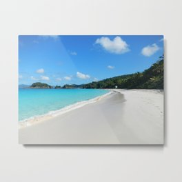 Caribbean beach Trunk Bay Metal Print