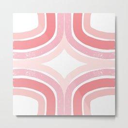 Pink Borderline Metal Print