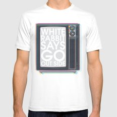 Go Out Side MEDIUM White Mens Fitted Tee