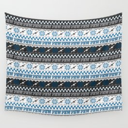 Pew Pew Gun Ugly Christmas Sweater Pattern Wall Tapestry