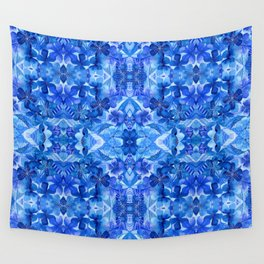 Gentle Clarity Blue Floral Wall Tapestry