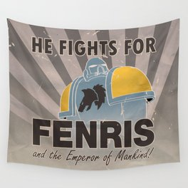 Space Wolves Propaganda Wall Tapestry