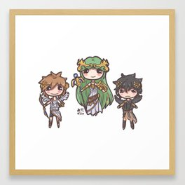 Kid Icarus Chibis Framed Art Print