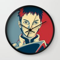 naruto Wall Clocks featuring Naruto - Hokage by KingSora