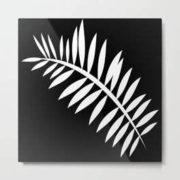 PALM LEAF WHITE LEAF Metal Print