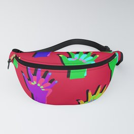red clap hand Fanny Pack