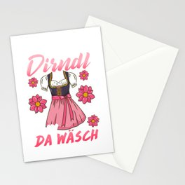Womens My Dirndl is in the Wash - Munich Beer German Oktoberfest design Stationery Cards