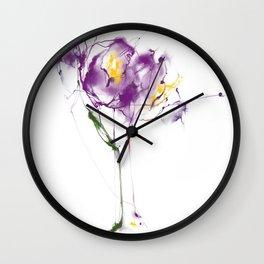 Plum crocus drops Wall Clock