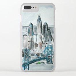 Philadelphia, Pennsylvania, USA Fine Art Acrylic Painting Clear iPhone Case