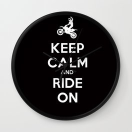 KEEP CALM AND RIDE ON - MOTOCROSS Wall Clock
