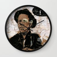 tom waits Wall Clocks featuring Tom Waits? by Andy Christofi