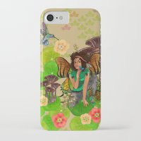 tina fey iPhone & iPod Cases featuring Forest Fey by Winsome Kindle