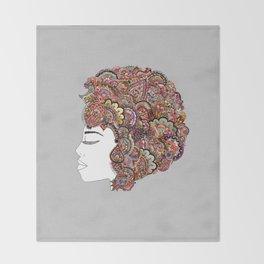 Her Hair - Les Fleur Edition Throw Blanket