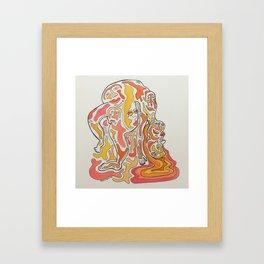 Bent Backward Framed Art Print
