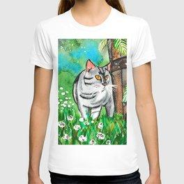 Summer Time Curious Cat T-shirt