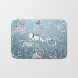 Scuba Dogs Bath Mat
