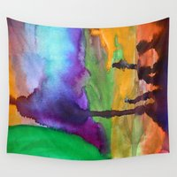 wonderland Wall Tapestries featuring Wonderland by Cailin Rawlins