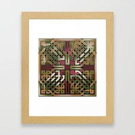 Earthtone Celtic Knot Framed Art Print