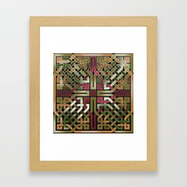 Earthtone Celtic Knot Framed Art Print