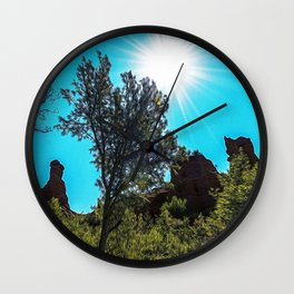 Ocher lands in Luberon Wall Clock