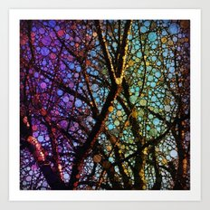 Colourful tree Art Print