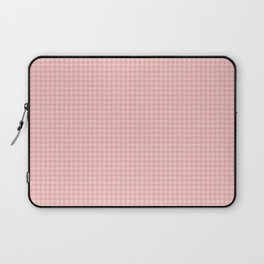 Blush Pink Two Tone Hounds Tooth Check Laptop Sleeve