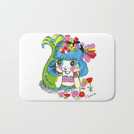 Happy Girl Mermaid Bath Mat