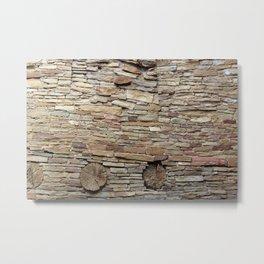 Rock and Wood Metal Print