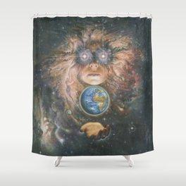 Nebula Girl Shower Curtain