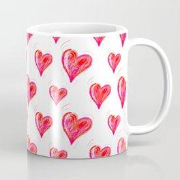 Romantic Red Hearts Coffee Mug