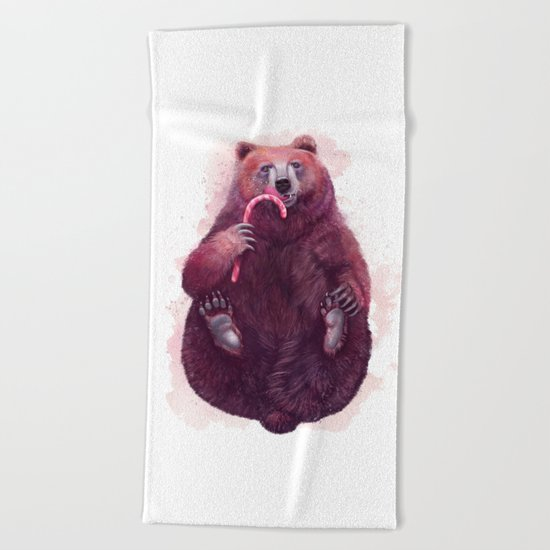 sweet bear Beach Towel