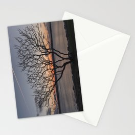 Sunset tree Niles Beach Stationery Cards