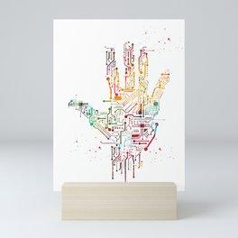 Circuit Hand Mini Art Print