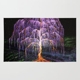 Electric Wisteria Willow Tree Rug