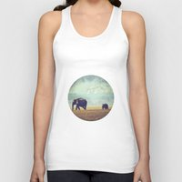 mom Tank Tops featuring mom by HaaM