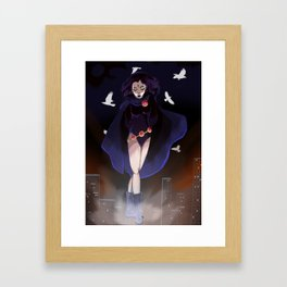 Raven from Teen Titans Framed Art Print