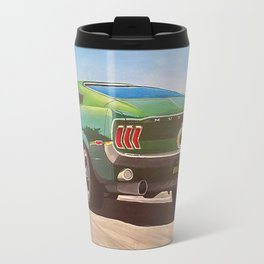 Bullitt Mustang painting Travel Mug