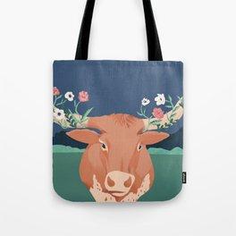 Longhorn Florals Tote Bag