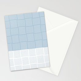 Classic pattern light blue and white - part1 #eclecticart Stationery Cards