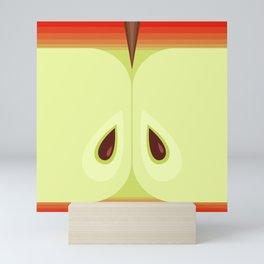 Red Sliced Apple Mini Art Print