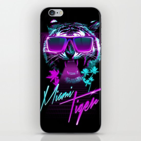 Miami Tiger iPhone & iPod Skin