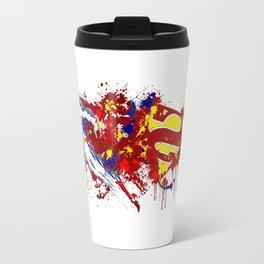 superman flaying Travel Mug