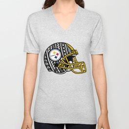 Polynesian style Steelers Unisex V-Neck