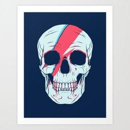 Bowie Skull Art Print