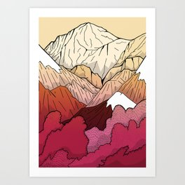 Autumnal Mountains Art Print