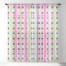Miami Stripes Sheer Curtain