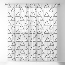 Watercolor Triangles Sheer Curtain